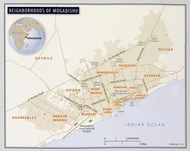Neighborhoods of Mogadishu