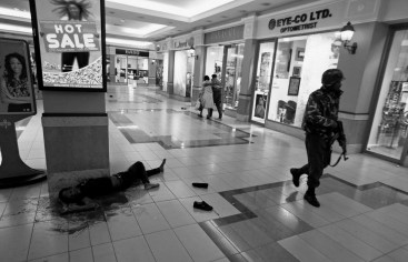 Soldier walks past body during Westgate Mall